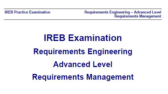 ireb management level mock exam