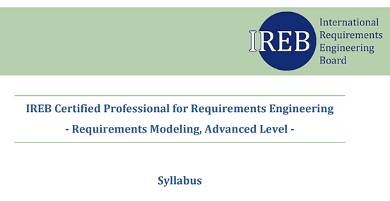 ireb modeling advanced level syllabus
