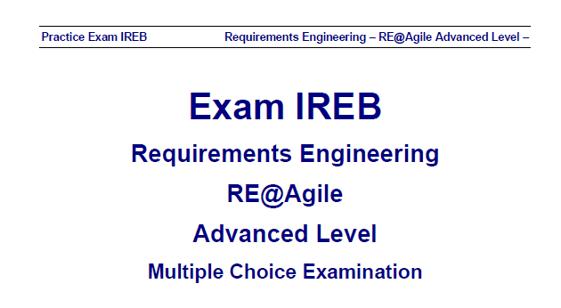 re-ireb-agile-primer advanced mock exam